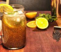 نوشیدنی معجون سلامت خاکشیر تخم شربتی