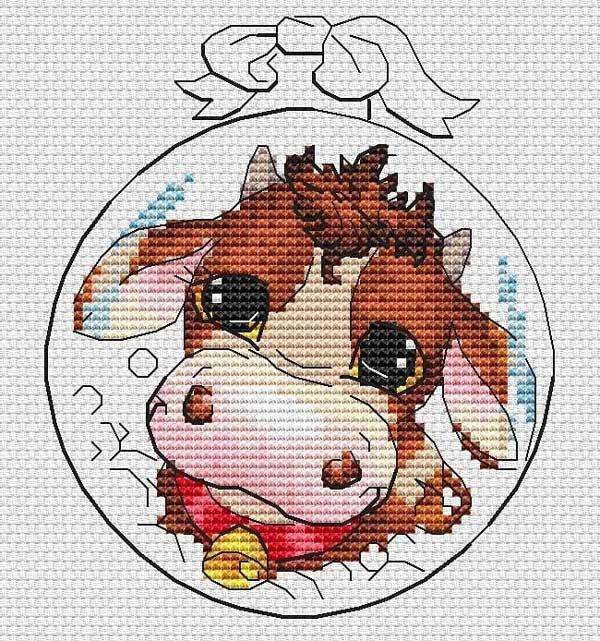 نقاشی گاو نماد سال 2021