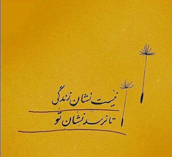عکس نوشته شعر مولانا