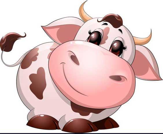 نقاشی گاو نماد سال 1400