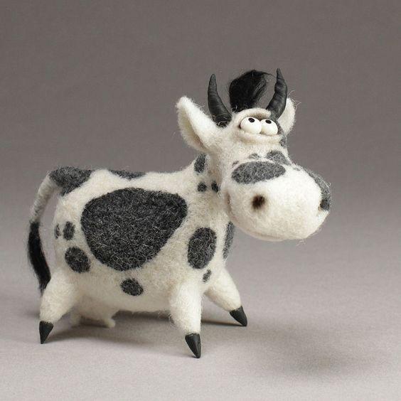 عروسک گاو کچه دوزی
