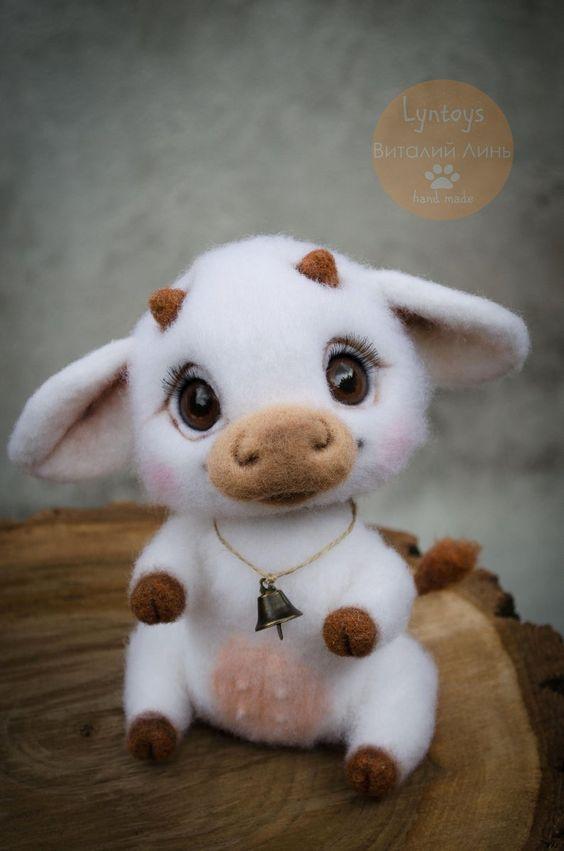 عروسک گاو کچه کاری