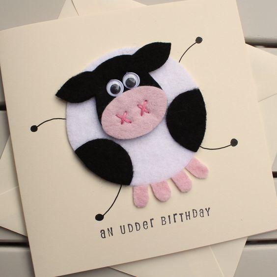کارت تبریک گاو نمدی
