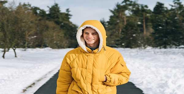لباس زمستانی زرد رنگ مردانه