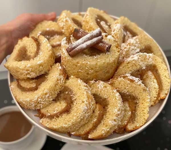 کیک رول سیب
