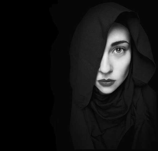 عکس سیاه سفید دخترانه