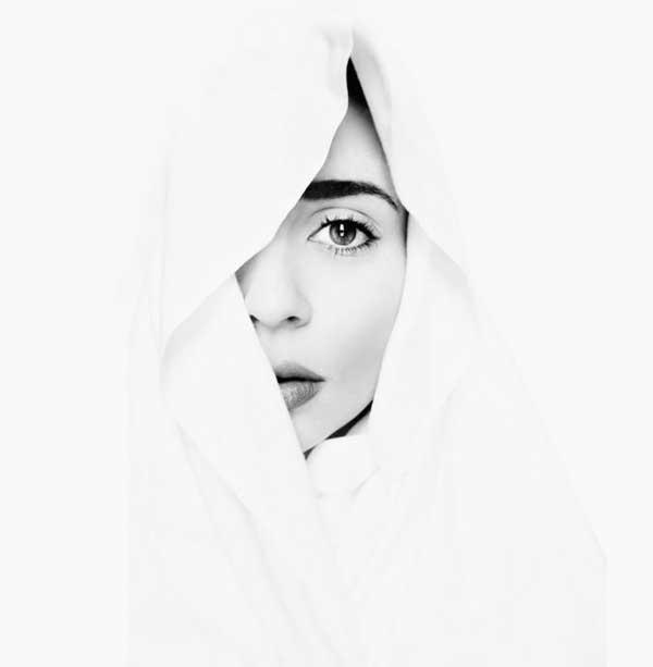 عکس سیاه سفید دختر