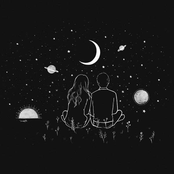 عکس سیاه سفید عاشقانه فانتزی