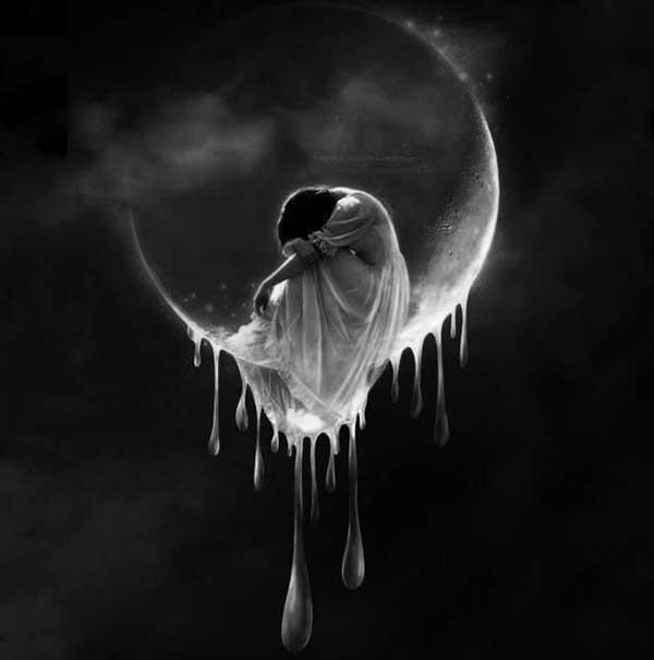 عکس پروفایل دختر در ماه