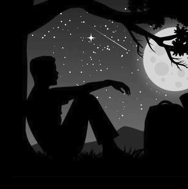 عکس پروفایل سیاه سفید پسر غمگین تکیه زده به درخت