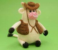 آموزش بافت عروسک گاو کابوی