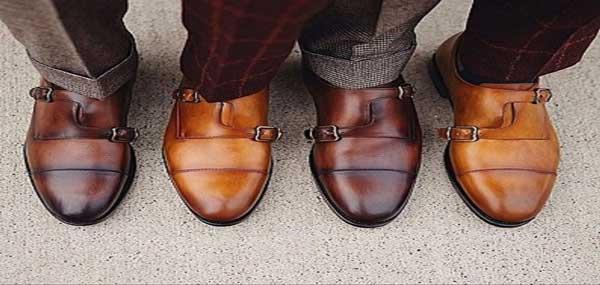 کفش های قهوه ای ورنی فرمال