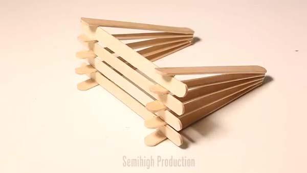 آموزش ساخت آباژور دیواری با چوب بستنی