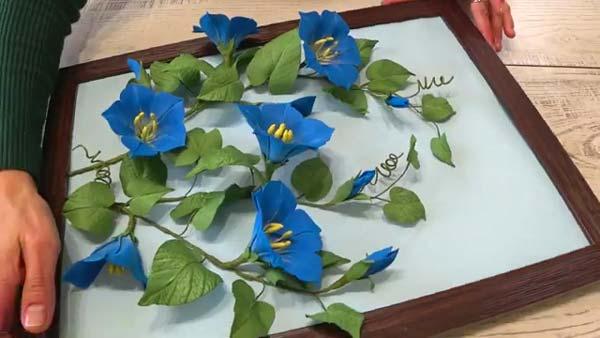 آموزش ساخت قاب گل های نیلوفر با فوم