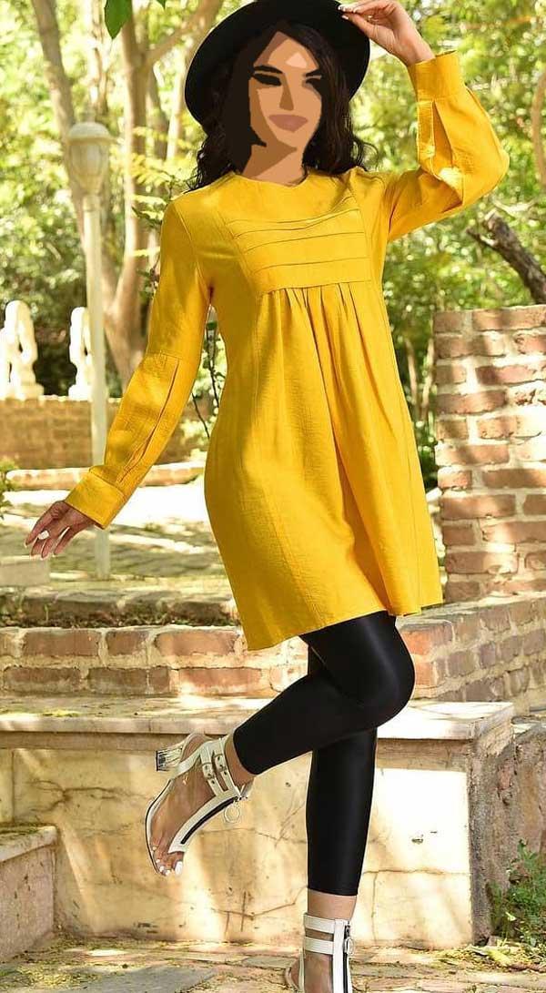 مانتو عید دخترانه زرد