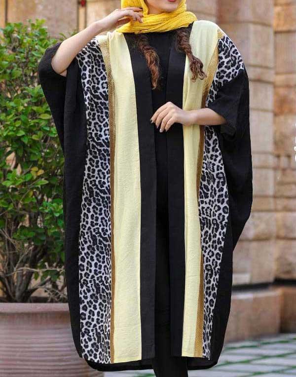 مانتو عید مدل پانچو بلند