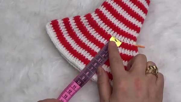 آموزش بافت کلاه بابانوئلی قلاب بافی