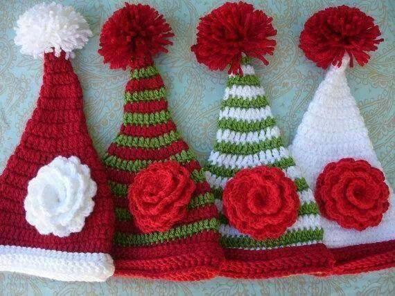 کلاه شیپوری بابانوئلی سفید قرمز