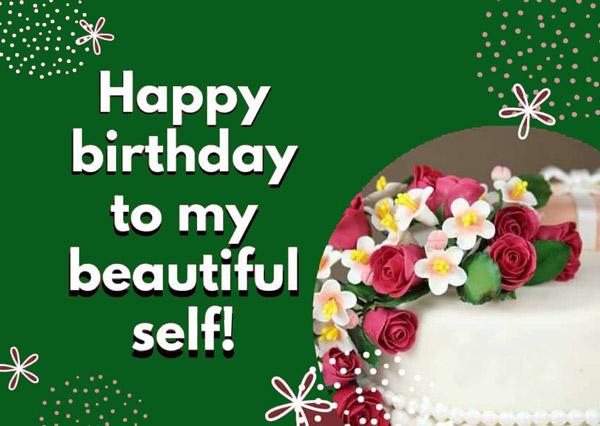 تبریک تولد به خودم انگلیسی