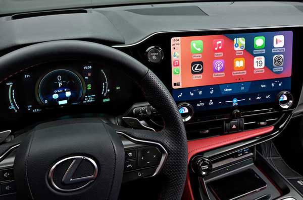 عکس نمای داخلی لکسوس ان ایکس و صفحه نمایش نویگیتور 2021 - Lexus NX 2021 NX 350h و +NX 450h