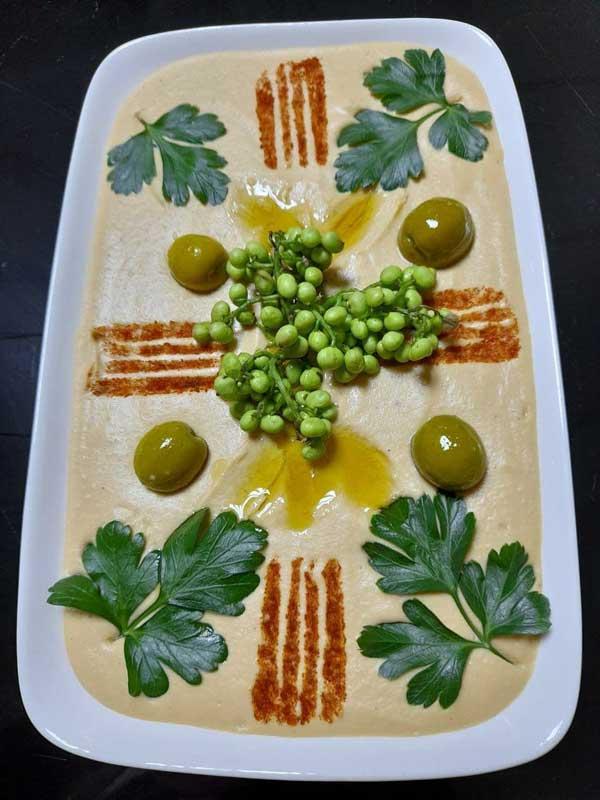 تهیه تزیین حمص لبنانی