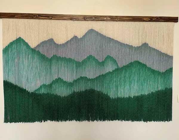 بوم ریس طرح کوه و جنگل