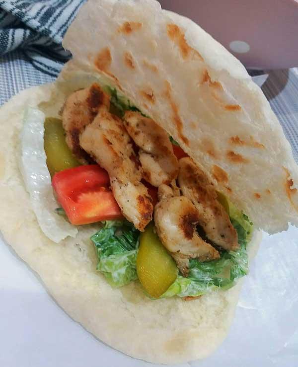 ساندویچ شاورما مرغ