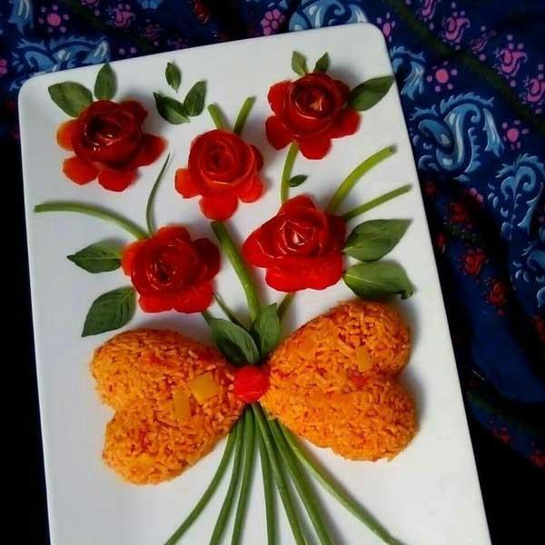 تزیین دمپختک گوجه فرنگی