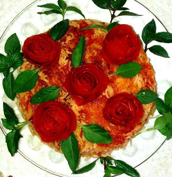 تهیه تزیین دمی گوجه