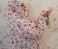 آموزش دوخت چادر نماز آستین دار به روشی ساده