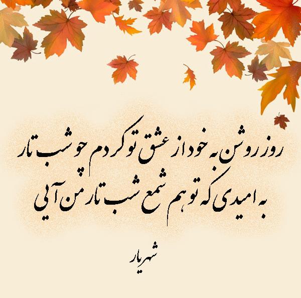 عکس پروفایل اشعار عاشقانه شهریار