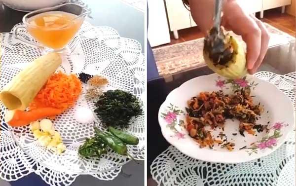 طرز تهیه ترشی خیار چنبر شکم پر